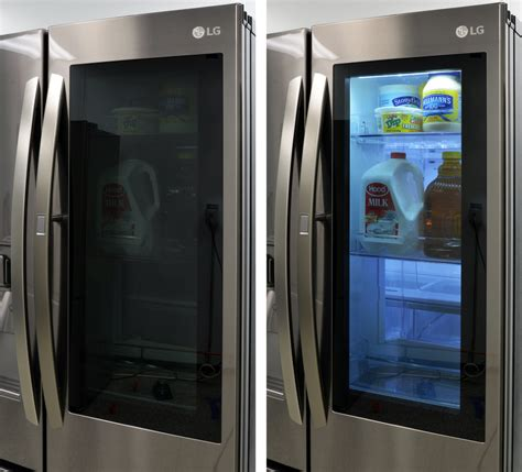smart refrigerator with glass door home ideas collection