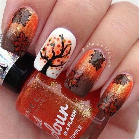 easy nail art leaf 25 best autumn leaf nail art designs ideas stickers