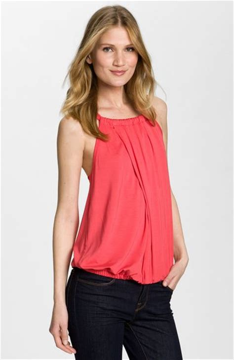 draped halter top trina turk imma draped halter top in pink red ginger lyst