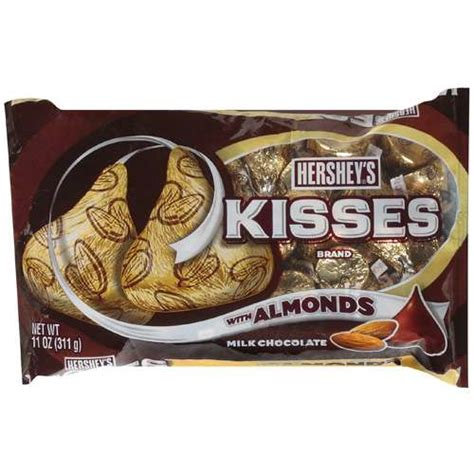 Kisses Milk Chocolate With Almonds hershey s kisses milk chocolate with almonds 11 oz