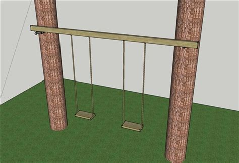how to build a swing between two trees swing between tree kit treehouse bolts hardware