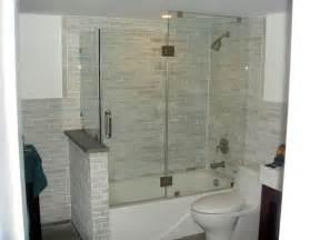 glass doors small bathroom: bathtub shower combo small bathroom