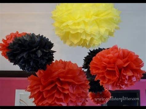 How Do You Make Tissue Paper Balls - how to make tissue paper pom poms doovi