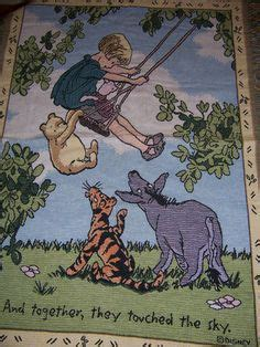 Original Winnie The Pooh Woodland Whimsy Pram Blanket classic pooh on winnie the pooh piglets and pooh