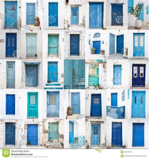 acquisto isole greche collage di vecchie porte di legno differenti dalle