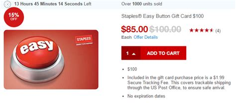 Staples Gift Card Deal - 100 staples gift card for 85 frequent miler