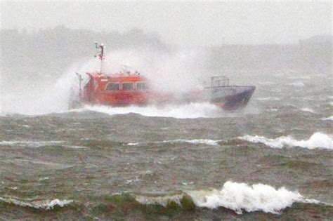 fishing boat hit by yacht crew member dies after ship hit by large wave portsmouth