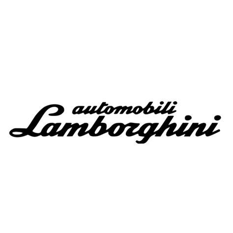 lamborghini text logo elements colors and fonts tull d