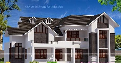 2015 sq ft sloping roof home kerala home design and sloped roof house with spiral staircase kerala home