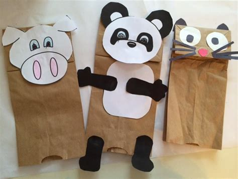 How To Make Puppets Out Of Paper - paper bag puppets inspiring bridal shower ideas