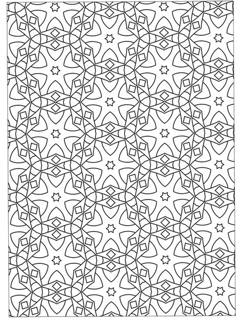 free coloring pages of geometric designs