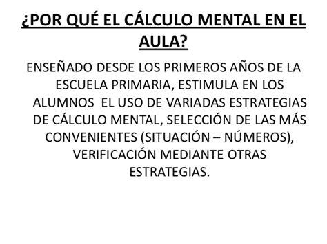 calculo mental power de calculo mental