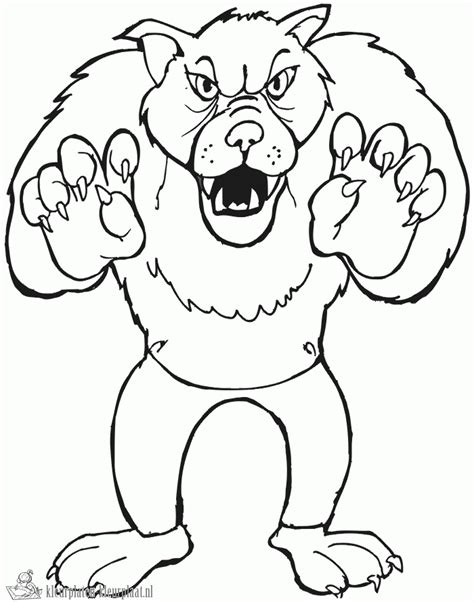 large printable halloween coloring pages kleurplaten wolf kleurplaten kleurplaat nl