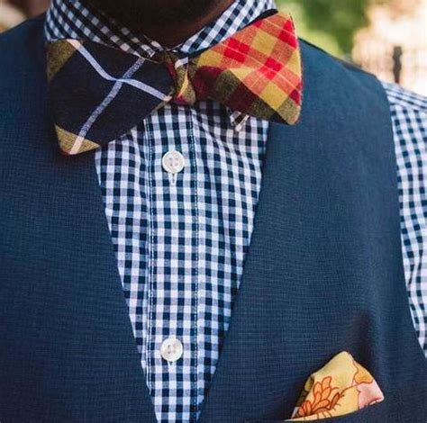 Plaid Bow Shirt bow tie with vest guide 15 unique ideas the bow