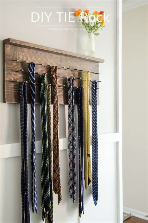 diy tie rack tutorial tie rack tie hanger rustic furniture