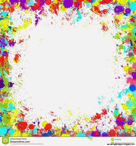Colorful Paint Splatter Border Amazing Wallpapers Colorful Page Borders