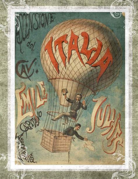 imagenes vintage italia free illustration vintage hot air balloon italy free