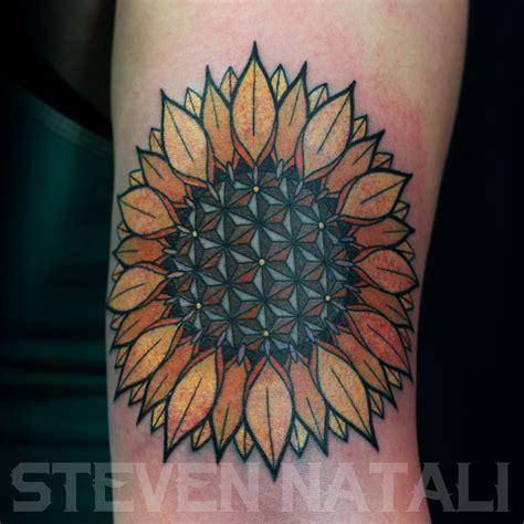 sunflower mandala tattoo custom geometric sunflower mandala by steven natali at