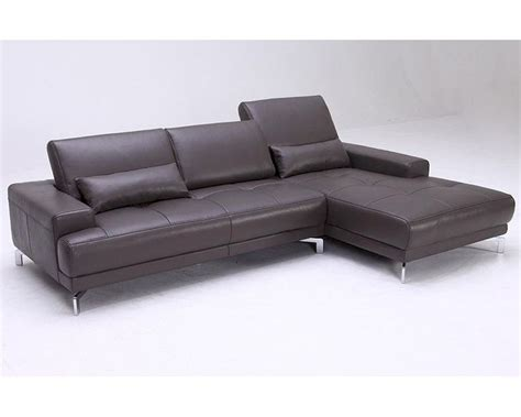 Leather Look Sofas Contemporary Style Leather Sectional Sofa 44l1329 M