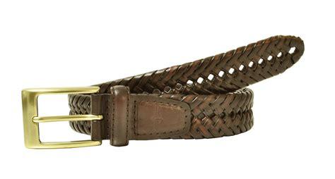 mens leather fully adjustable v weave braided belt
