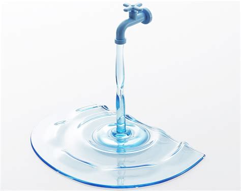 Faucet Water by Running Water Faucet Tablet Smartphone Stands