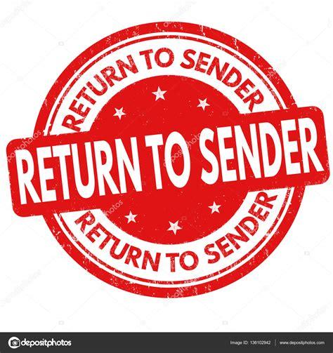 return to sender rubber st return to sender sign or st stock vector