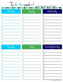 weekly to do list template freebie friday weekly to do list