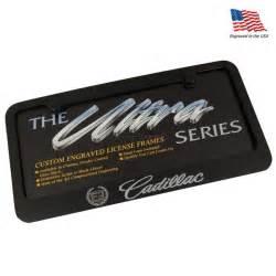 Cadillac License Plate Frames Cadillac Black License Plate Frame