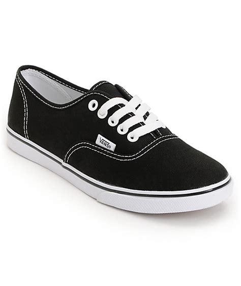 vans authentic lo pro black shoes womens at zumiez pdp