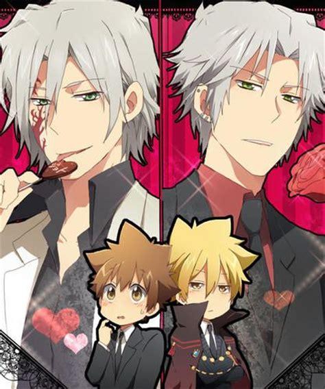 Tsuna and Gokudera hayato/Vongola 1 and (forgot his name ... G Reborn