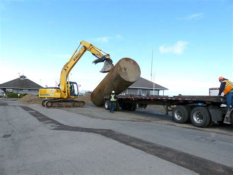 old boat trailer disposal on the waterfront port of port angeles terminal gets a