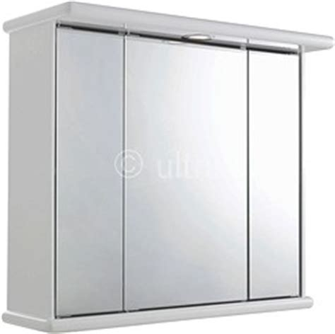 ultra bathroom cabinets cryptic 3 door mirror cabinet light shaver
