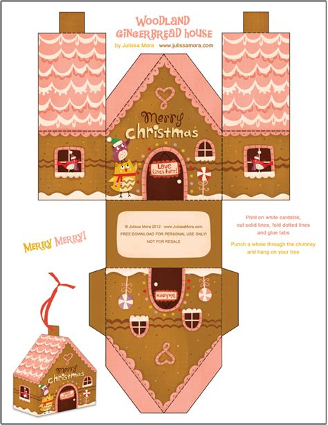 printable christmas houses kawaii cutie blog gingerbread house tutorial