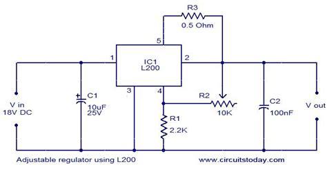 Kr04426 L200c Adjustable Voltage And Current Regulator voltage regulator setting the output for l200c am i correct in how it works electrical