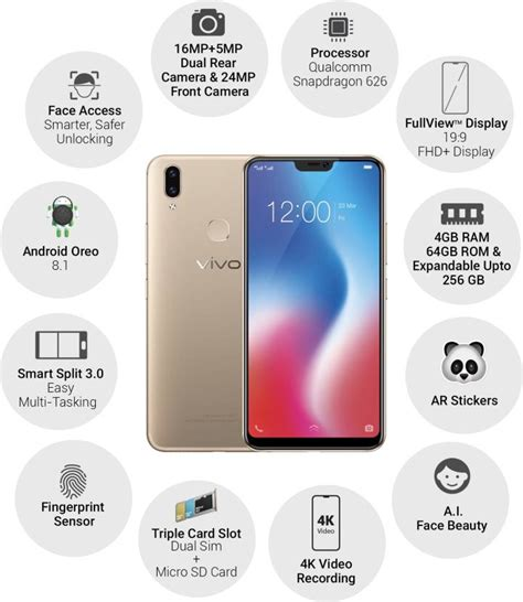 Vivo V9 64gb 4gb Free Gift 4g Lte Garansi Resmi Indonesia 1 vivo v9 finally lands in india sports 6 28 inches fhd