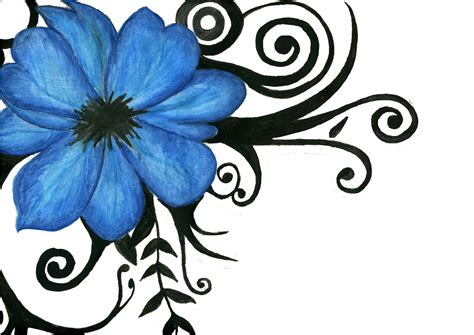 flowers tribal tattoos ink flower by juanita