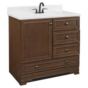 Project source bark traditional bathroom vanity common 36 in x 22 in