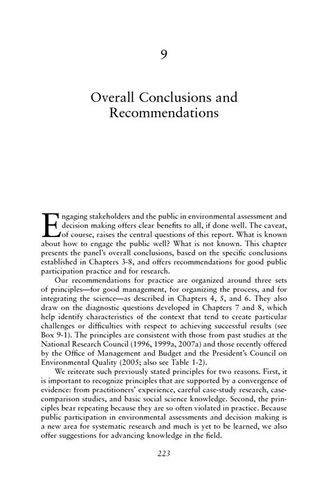 conclusion and recommendation in research paper 9 overall conclusions and recommendations