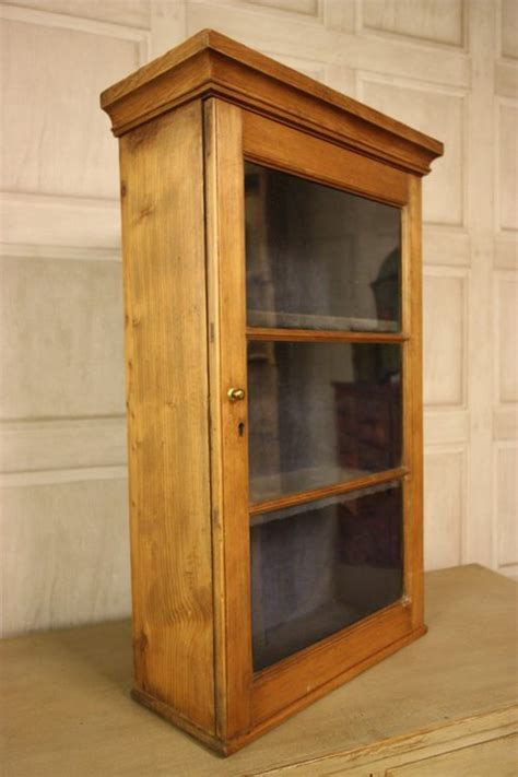 Georgian Antique Pine Wine Glass Wall Cabinet Antiques Pine Bathroom Wall Cabinet