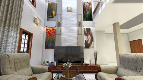 model double height living room cgtrader