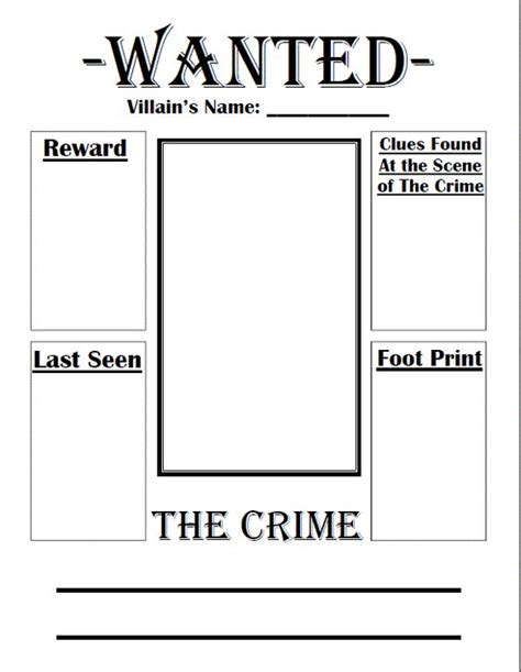 poster design worksheet fairy tale wanted poster crafts pinterest fairies