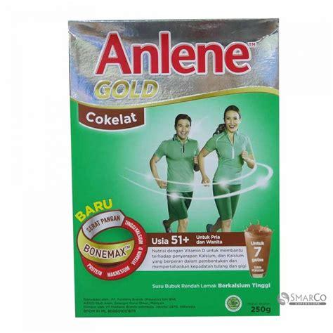 Anlene Gold Coklat detil produk anlene anlene gold coklat kotak 250 gr