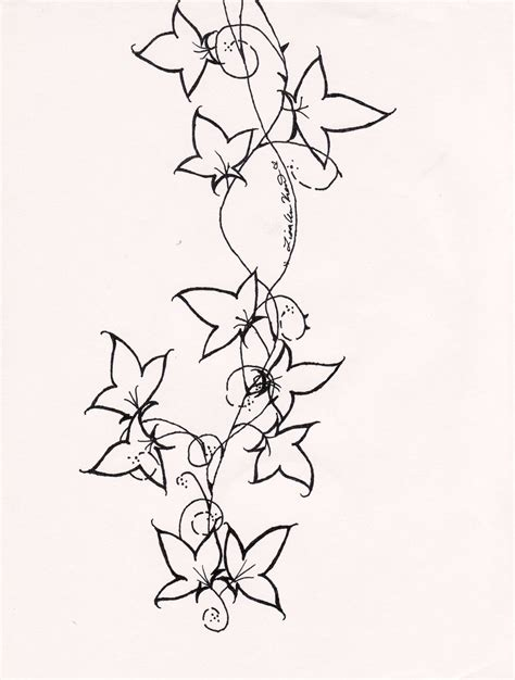 ivy tattoo designs back plants tattoos