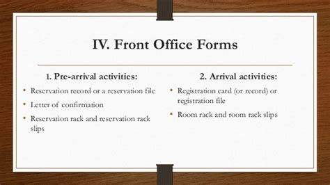 Front Desk Operations by Front Office Operations
