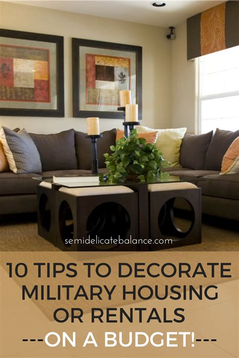 housing tips 10 tips to decorate military housing or rentals on a budget