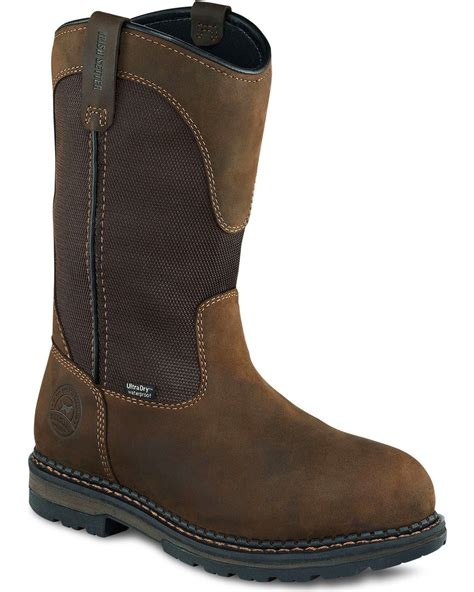 wing pull on work boots wing setter ramsey waterproof pull on work boots