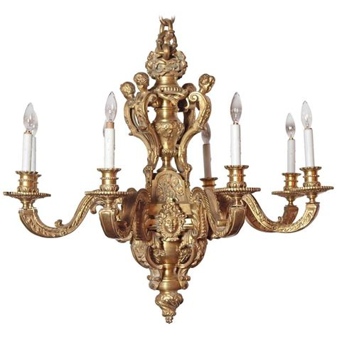 Louis Xv Chandelier 19th Century Eight Light Louis Xv Bronze Chandelier With Cherubs For Sale At 1stdibs