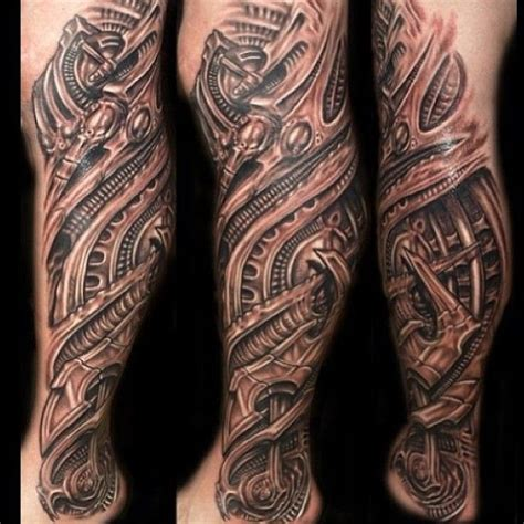 biomechanical tattoo designs for men realistic 3d biomechanical leg for cool