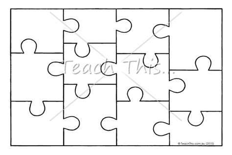 jigsaw puzzle template printable teacher resources