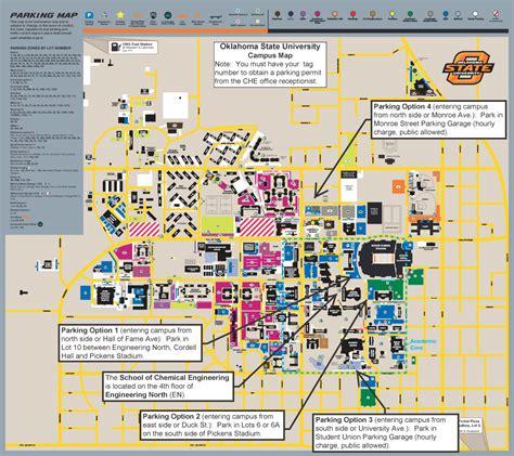 uco parking map oklahoma state engineering alumni 2017 2018